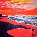 Walk On The Beach by Jack Bunds