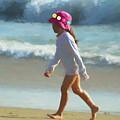 Walk On The Beach by Ola Allen