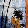 Walking Home, Watercolor by David K Myers