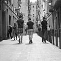 Walking In Barcelona by Victor Vega