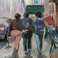 Walking In Chelsea by Merle Keller