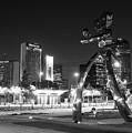 Walking Man Deep Ellum B W 063018 by Rospotte Photography