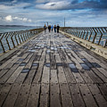 Walking The Pier by Perry Webster