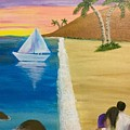 Walking With You On Beach by Anuradha Kumari