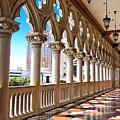 Walkway At The Venetian Hotel by Julie Niemela