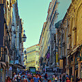 Walkway Over The Street - Lisbon by Mary Machare