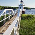 Walkway To Doubling Point Light, Arrowsic, Maine #40056 by John Bald