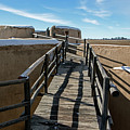Walkway To Turret At Bents Old Fort by Fred Stearns