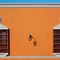Wall Lamp And Windows In Trujillo In Peru by John Rocha