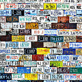 Wall Of American License Plates by Christine Till