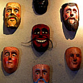 Wall Of Masks 2 by Mexicolors Art Photography