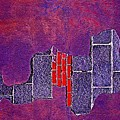 Wall Of Violet Textures by Contemporary Luxury Fine Art