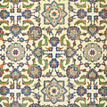 Wall Tiles Of Qasr Rodouan by Emile Prisse d'Avennes
