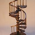 Walnut Spiral Staircase  by Don Lorenzen