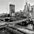Walnut Street City View In Black And White by Bill Cannon