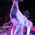 Walrus Ice Art Sculpture - Alaska by Gary Whitton