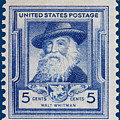 Walt Whitman Postage Stamp by James Hill