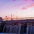 Waltham Ma Charles River Dam At Sunset by Toby McGuire