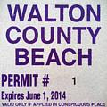 Walton County Beach Permit by JC Findley