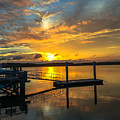 Wando River August Sunset by Dale Powell