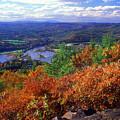 Wantatisquet Mountain Foliage by John Burk