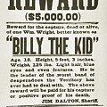 Wanted Poster For Billy The Kid by Everett