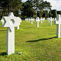 War Crosses In Normandy by Enrico Della Pietra