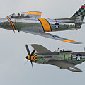 Warbirds Heritage F-86 Sabre And P-51 Mustang by Bruce Beck