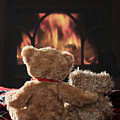 Warm And Cosy Teddies By The Fireside by Amanda Elwell