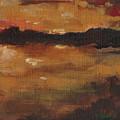 Warm Glow Triptych 3 Of 3 by Cynthia Satton