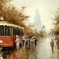 Warm Moscow Autumn Of 1953 by Igor Medvedev