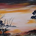 Warm Sunset  by Jan Gerard Bakker