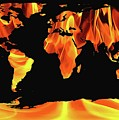 Warming World Map by Dan Sproul