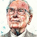 Warren Buffett Portrait by Suzann Sines