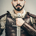 Warrior With Sword by Amanda Elwell