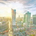 Warsaw Poland Skyline by Anthony Murphy