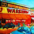Warshaws Fruitstore On Main Street by Carole Spandau