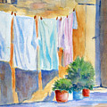 Wash Day In Marsaxlokk by Marsha Elliott