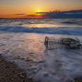 Washed Up Crab Cage 16x9 by Michael Ver Sprill