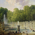 Washerwomen In A Park by Hubert Robert
