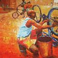 Washing My Bike by Lawani Sunday