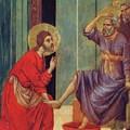 Washing Of Feet Fragment 1311 by Duccio