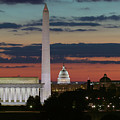 Washington Dc Landmarks At Sunrise I by Clarence Holmes