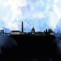 Washington Dc Skyline Minimalism 8 by Bekim Art