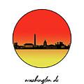 Washington Dc Skyline Minimalism 9 by Bekim Art