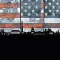 Washington Dc Skyline Usa Flag by Bekim Art
