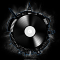 Washington Dc Skyline Vinyl 10 by Bekim Art