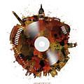 Washington Dc Skyline Vinyl 7 by Bekim Art