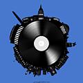 Washington Dc Skyline Vinyl 9 by Bekim Art