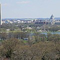 Washington Dc View From Custis Lee House by Sandy Mayer